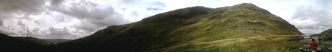 Panoramic view of the Kirkstone Pass towards Windermere