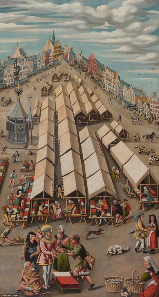 The Draper's Market in 's-Hertogenbosch ca. 1530