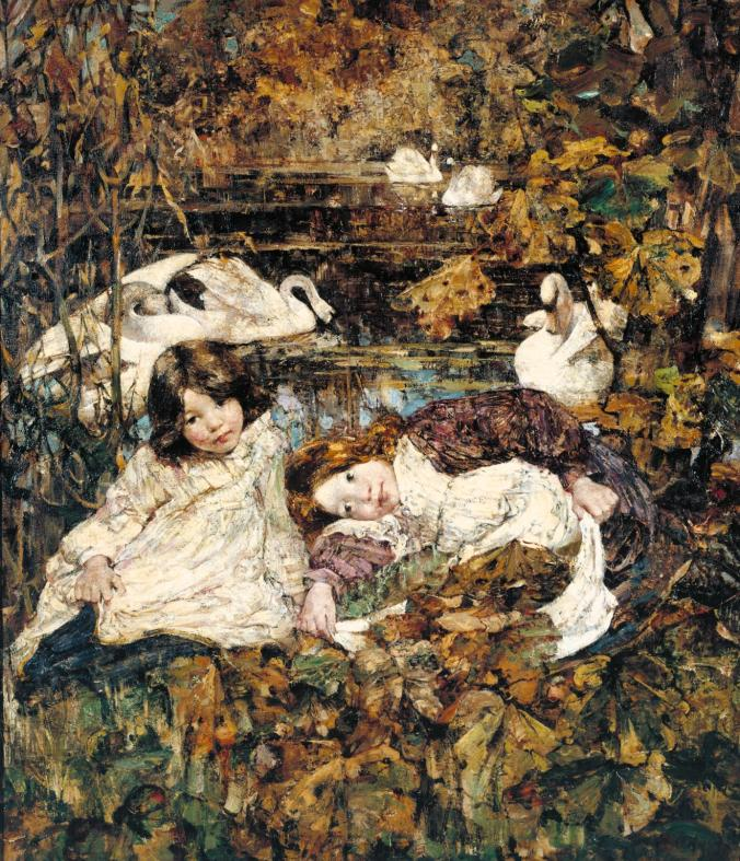 Autumn c. 1904 by Edward Atkinson Hornel (1864-1933).