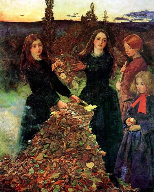 Autumn Leaves by Sir John Everett Millais