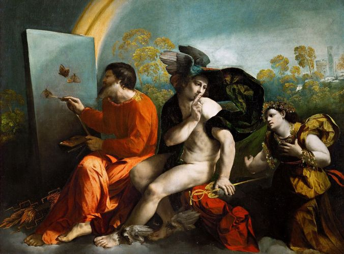 Jupiter, Mercury and Virtue by Dosso Dossi circa late 16th Century