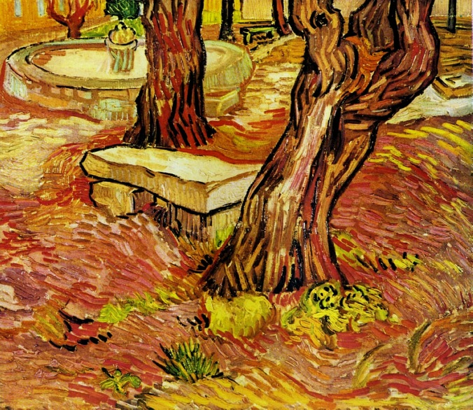 The Stone Bench in the Garden at Saint-Paul Hospital by Vincent van Gogh