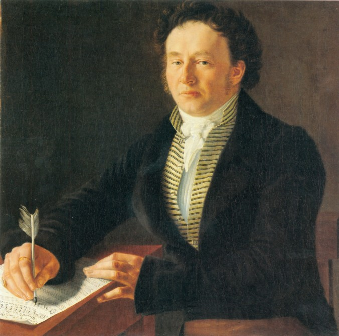 Portrait of Louis Spohr composing in Kassel c. 1824