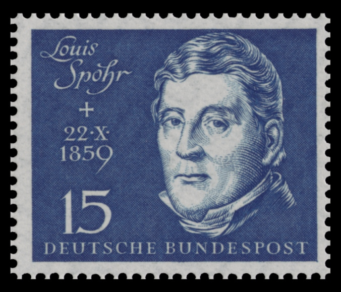 German stamp depicting Louis Spohr from 1959