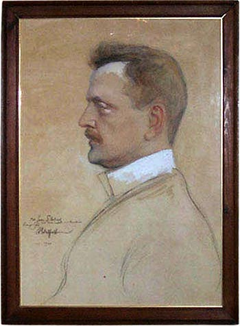 Portrait of Sibelius by Albert Edelfeldt c. 1904