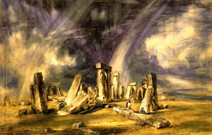 Brooding painting of Stonehenge by John Constable.