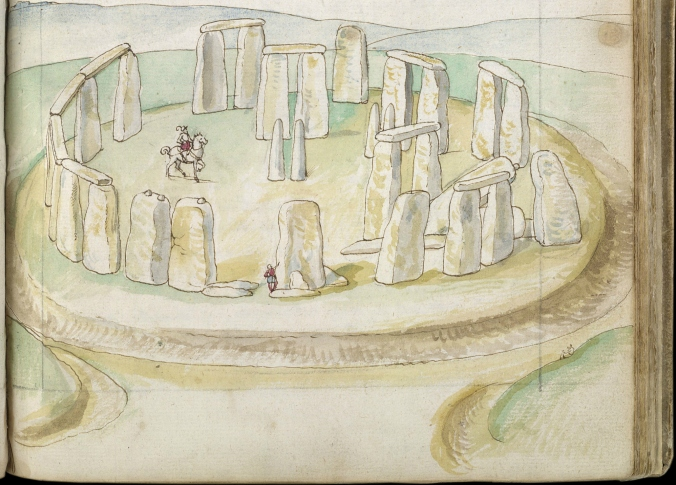 The earliest surviving painting of Stonehenge - a watercolour by a Dutch traveller, Lucas de Heere c. 1574