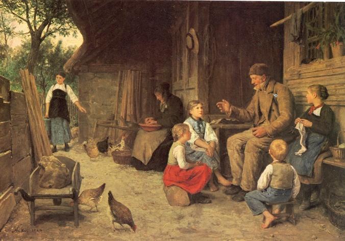 Albert Anker Grossvater