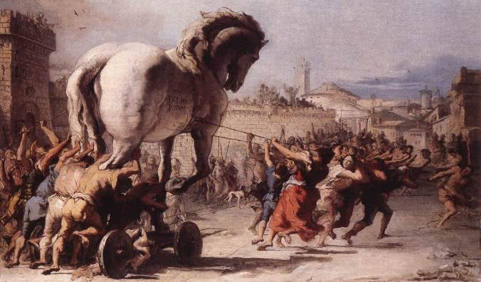 The Procession of the Trojan Horse in Troy by Giovanni Domenico Tiepolo c. 1773