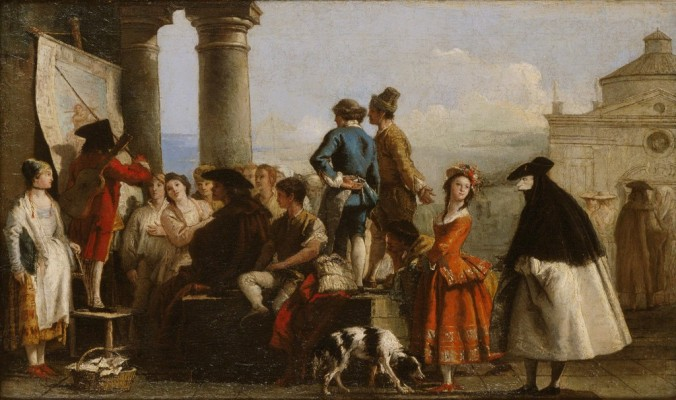 The Storyteller by Giovanni Domenico Tiepolo c. 1773