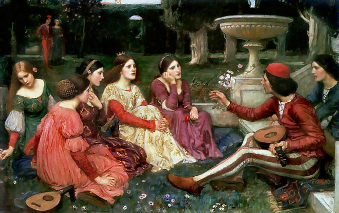 A Tales of The Decameron by John William Waterhouse