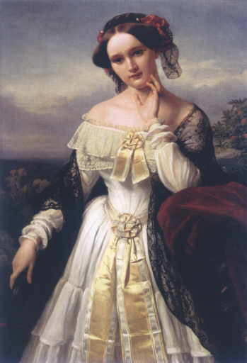 Mathilde Wesendonck by Karl Ferdinand Sohn c. 1850