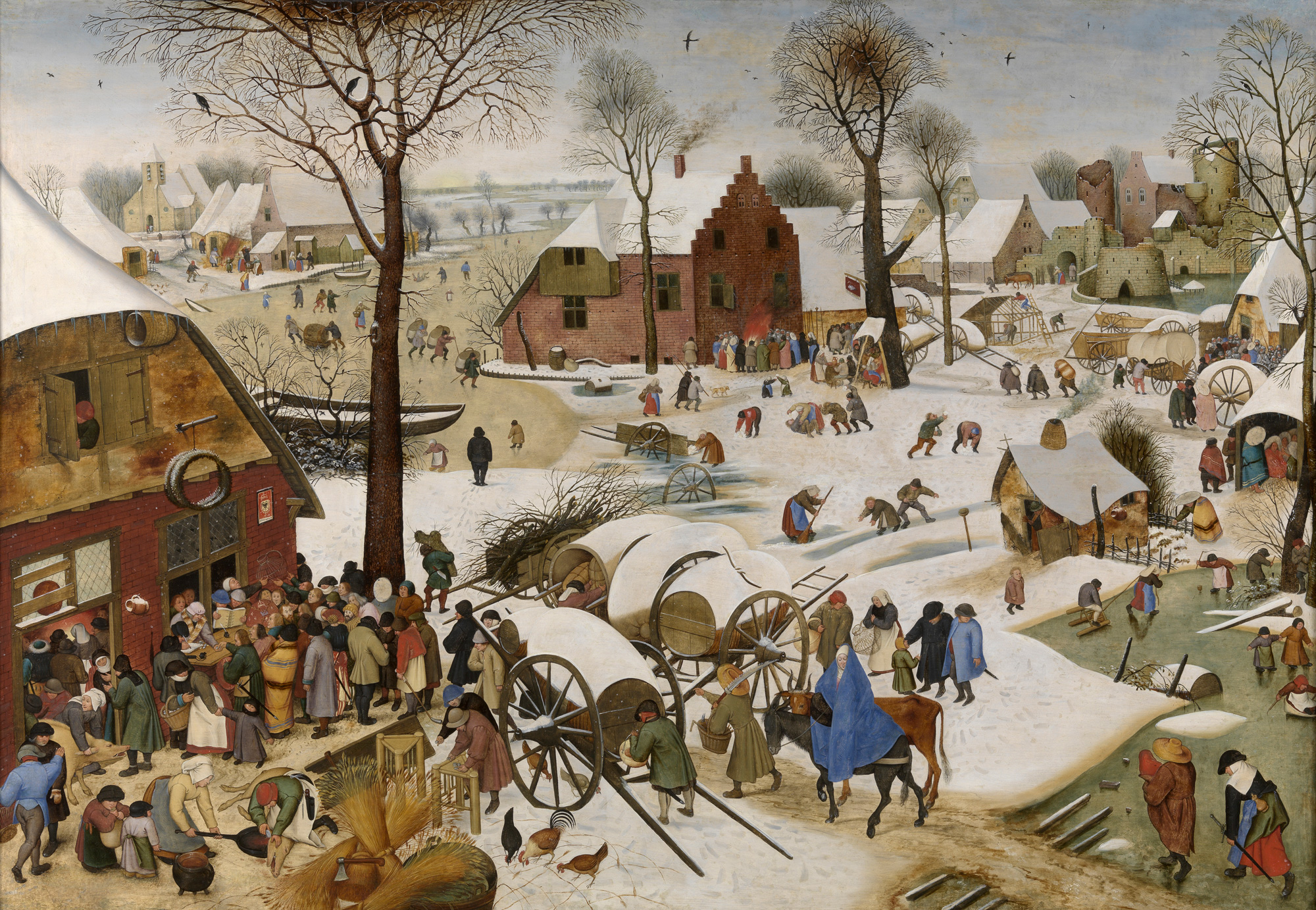 Image result for pieter bruegel the elder census