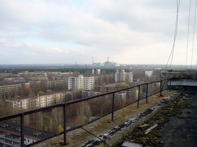 View of Chernobyl from Pirpyat